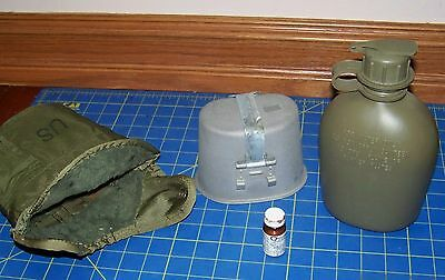 USGI 1QT Canteen+Heating Cup+ Pouch Cover+Drinking Tablets  Army Military