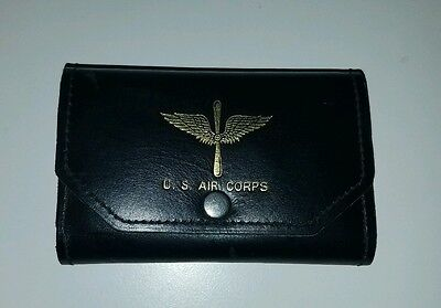 Vintage 1930's US Air Corps Tri-fold Wallet w/original Picture & Bill Insert