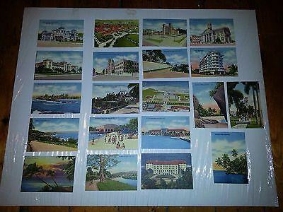 "20 Vintage Puerto Rico Textured Picture Cards - Early 20th Century 2.5"" x 3.75"""