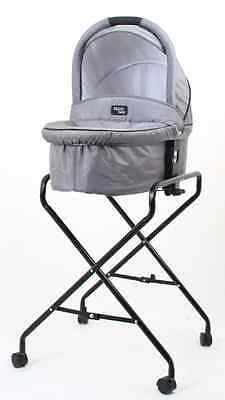 NEW Valco Baby - Q Bassinet Stand and Midnight Black Bassinet BUNDLE