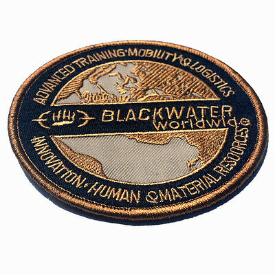 Black Water Worldwide U.s. Army Morale Badge Tactical Embroidery Hook Loop Patch