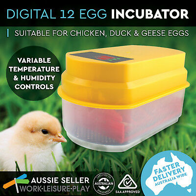 12 Egg Incubator Fully Automatic Digital LED Turning Chicken Duck Eggs Poultry