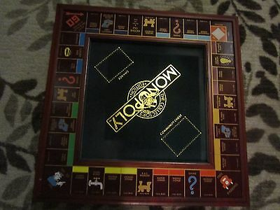 Franklin Mint Collectors Edition Monopoly Wood Board Game    Board Only!