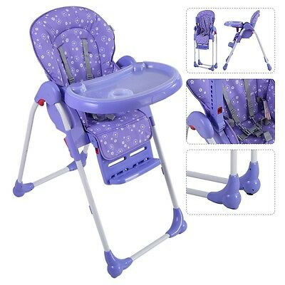 Folding Adjustable Baby High Chair Infant Children Toddler Feeding Booster Seats