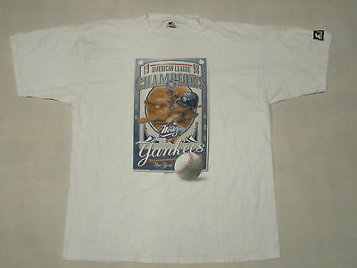 New York Yankees NY T-Shirt MLB Baseball 1998 Champions Vintage 90s Starter  XL