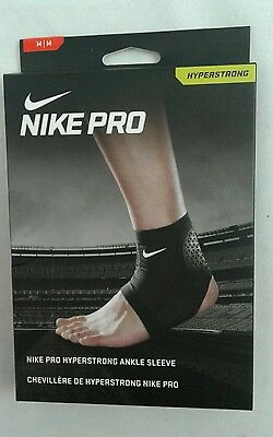 NIKE PRO COMBAT HYPERSTRONG ANKLE SLEEVE Size: M Black