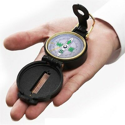 Pocket Outdoor Military Army Hiking Camping Lens Survival Mini Black Compass ZP