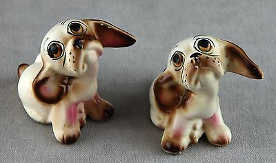 Cute dogs retro ceramic salt & pepper shakers.