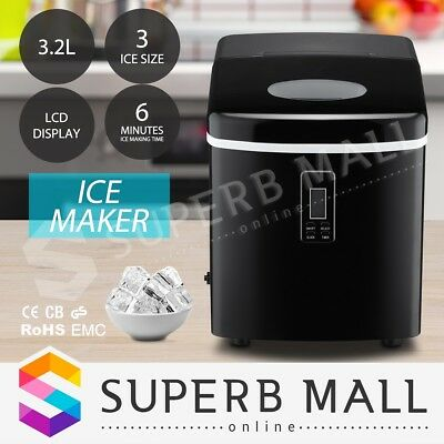 3.2L LCD Display Home Portable Cube Ice Maker Machine Commercial Easy Auto Snow
