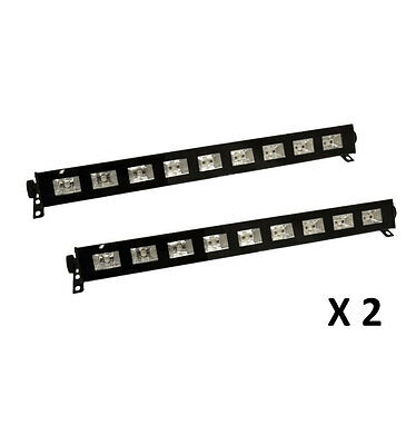 Pack 2 Barled UV 9 x 3W UVDESIGN Ghost 2 Rampes Lumiere Noire A Led Black Light