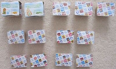 Lot of 15 Gerber 1st & 2nd Baby Food Mixed Assorted Variety 5 Different Flavors