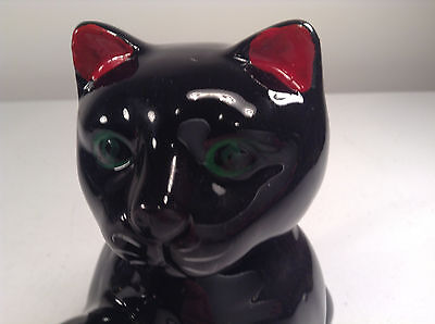 "Vintage Ceramic Black Cat Teapot-Kitten-Pets-Home Decor-6"" Tall"