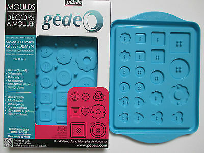 STAMPO PEBEO IN SILICONE Bottoni Buttons Botones Knopen Boutons 13x18cm