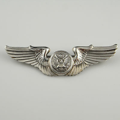 Pilots Wings Air Force 1940s WWII Militaria Sterling Silver Brooch PIn Men's
