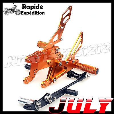 OR Commandes Reculées Repose-pieds Footpegs Rearset Pour Yamaha YZF R1 2007 2008