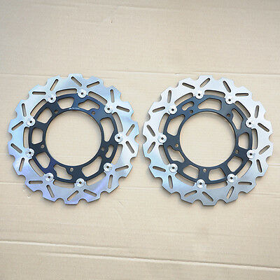 GEE 2Pcs Front Brake Discs For Yamaha 2007-2012 YZF R1 R6 2008 2009 2010 2011