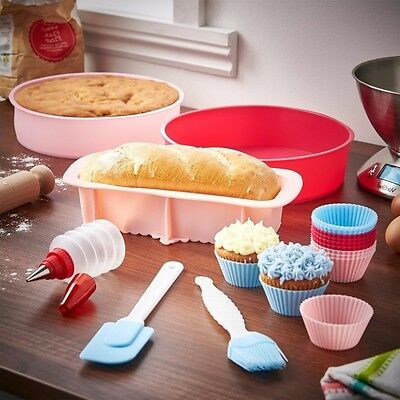 Silicone Bakeware Set Oven, Microwave, Dishwasher, and Freezer Safe Non-stick