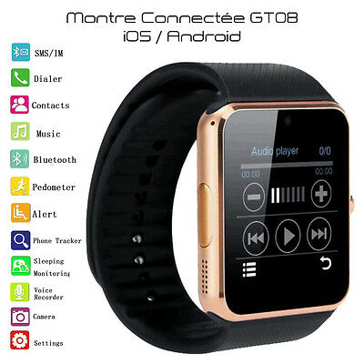 SmartWatch GT08 Montre connectée 2016 bluetooth iOS/Android (GOLD) FRANCE