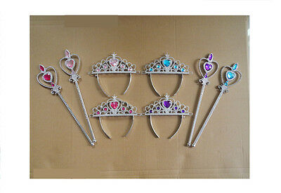 Princess Fairy Magic Wand & Crown Tiara Kids Girl Party Accessory Costume