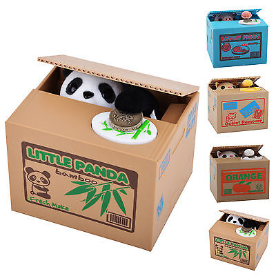 Dog Puppy Stealing Coin Money Penny Cents Piggy Bank Collecting Gift Saving Box