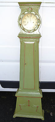 ANTIQUE DUTCH GRANDFATHER LONGCASE CLOCK SHABBY CHIC green