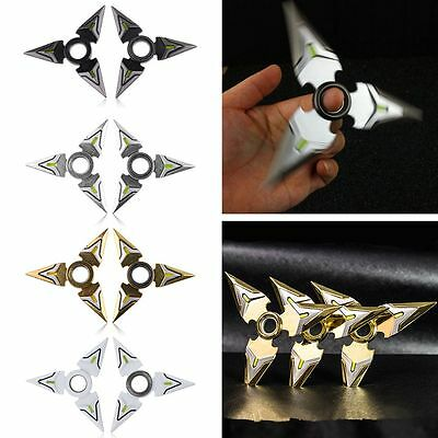 2PCS Overwatch Genji Darts Alloy Weapon Model Rotatable Darts Toys Cosplay Props