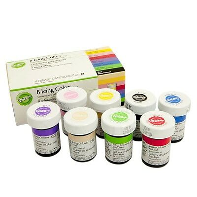 Wilton Icing Paste Food Colouring Concentrated Gel for Cake Pack of 8- Not Loose