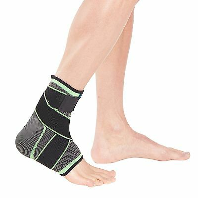 Actesso Sports Ankle Support Sleeve with Strap - Sprains Running Gym Football