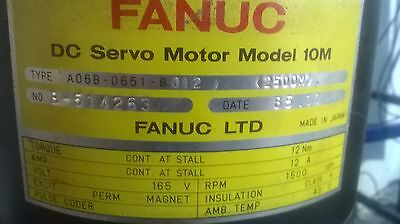 Fanuc DC Servo Motor MODEL 10 A06B - 0651 - B012 NEW