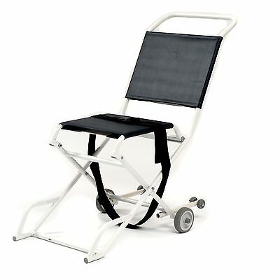 Folding ambulance narrow evacuation chair with 2 castors - Roma 1823