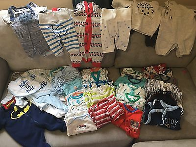 Newborn And Up To 1 Month baby Boy clothes Big Bundle.