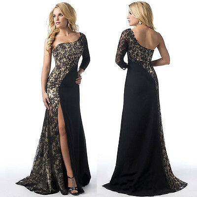 Sexy Sleeveless Formal Women Lace Evening Party Cocktail Bridesmaid Long Dress