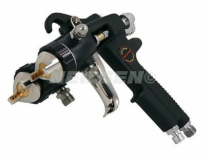 Double Head Spray Gun Twin 1.4mm Nozzle Dual Colour Spraying Increased Transfer