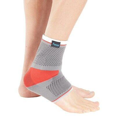 Actesso Sports Ankle Support Sleeve with Silicone Insert - Tennis Gym Boxing