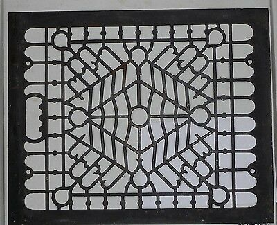 Antique Cast Iron Floor Heat Grate Vent Register Large 16 3/4 x 13 1/2  OLD ONE