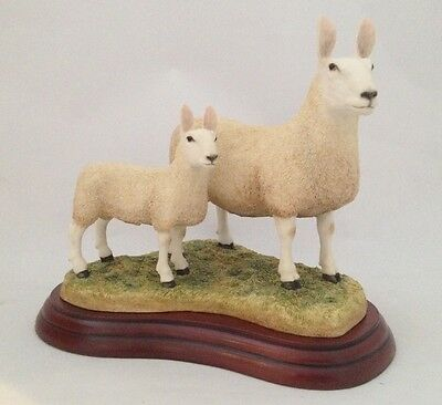 Border Fine Arts Border Leicester Ewe And Lambs A3226 Boxed