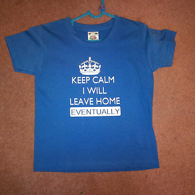 Novelty Slogan Child T shirt - Keep Calm -  ideal gift for birthday/Christmas