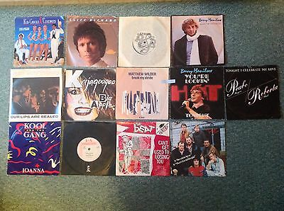"7"" Vinyl Record Singles Lot Of 13 All From 1983"