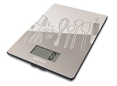 Salter Glass Digital Electronic Kitchen Scales Grey 1102GYDR