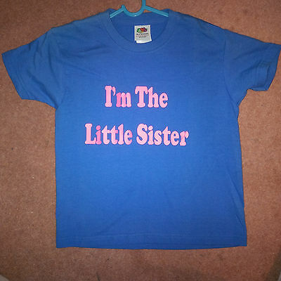 Novelty Slogan Child T shirt - Im The Little Sister