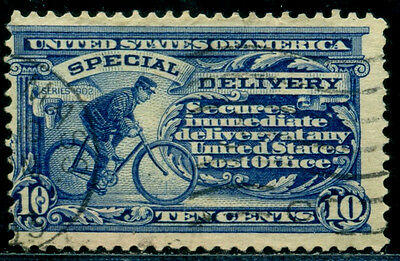 1911 Special delivery,Expressmail,Bicycle,Cycling Postman,US,USA,Mi.187A,VFU