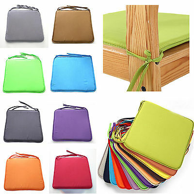 Chair Cushion Seat Pads OUTDOOR Tie On Foam Patio Garden Dining REMOVABLE COVER
