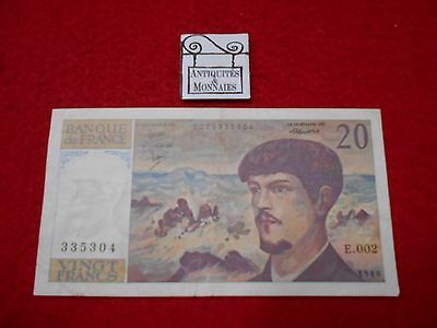 France Billet De 20 Francs Debussy 1980 E.002