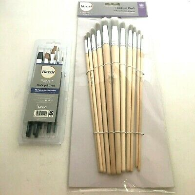 Harris 286/291/292 Artists Paint Brush Sets -Flat & Round Fitch