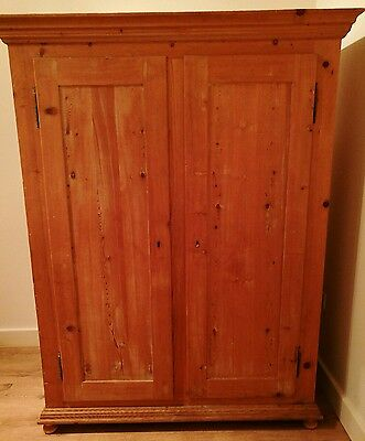 Original antique vintage 1920s Italian Spruce armoire wardrobe like Loaf