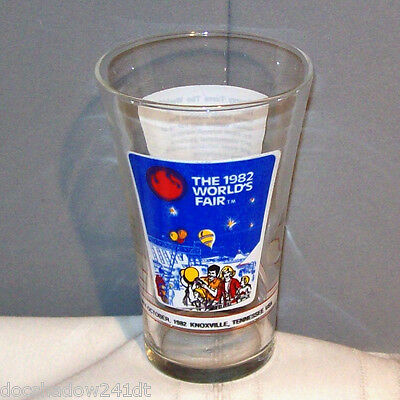 World's Fair 1982 McDonald's Knoxville Flared Top Drinking Glass