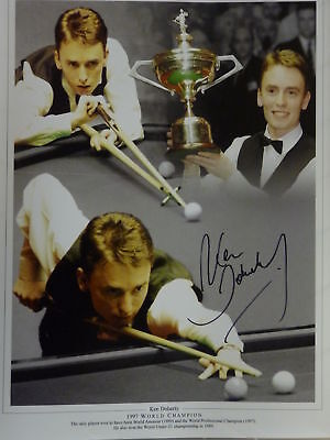 Ken Doherty Signed Snooker Large Photograph
