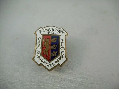 IPSWICH TOWN FC SUPPORTERS ASSOCN Enamel Button Hole Badge NO RESERVE