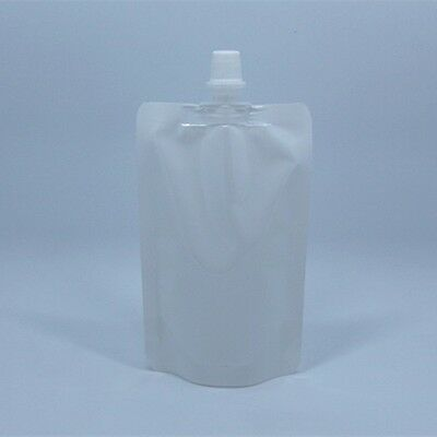 White Plastic Spout Bag Stand Up with Cap Liquid Juice Milk Wine Pack Pouches