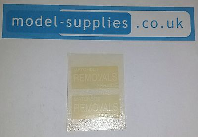 Matchbox 17A Bedford Removals Reproduction Waterslide Transfers Set